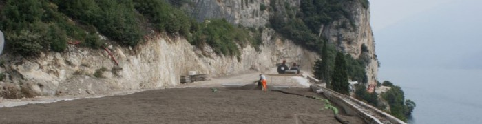 """Rock fall protection s.s 45 bis """"Gardesana Occidentale"""""""