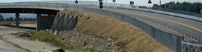 Motorway embankment on soft soil