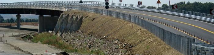 Motorway embankment on soft soil