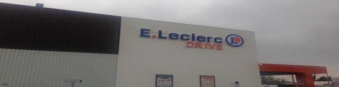 Parking lot Drive E. Leclerc Supermarket