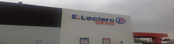 Parking lot Drive E. Leclerc Supermarket